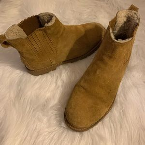 Madewell Shearling Chelsea Boot